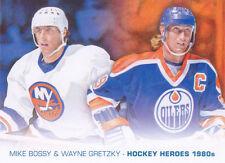13-14 Upper Deck Wayne Gretzky Mike Bossy Art Hockey Heroes 1980s Painting 2013