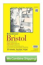 "Strathmore 300 Bristol Board Smooth Surface 20 Sheet Pad 19""x24"" 100lbs"