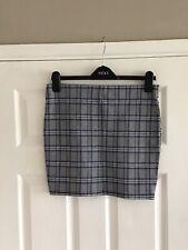 Atmosphere Grey Blue Black Check Skirt Short Size 14
