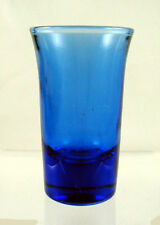 "RITZ BLUE Tall ""SHAM BOTTOM"" Bar Tumbler-Shot Glass"