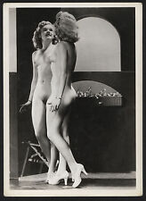 1950s glamour nude unknown model young woman mirrored image gelatin silver print