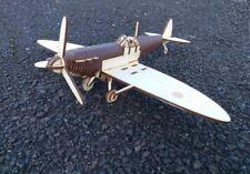 Spitfire Wooden plane laser cut wood craft aeroplane kit for self assembly