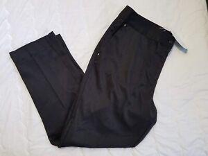 1 NWT GREG NORMAN WOMEN'S PANTS, SIZE: 14, COLOR: BLACK (J117)