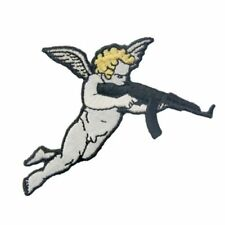 Embroidered Patches Iron Sew on Transfers Cupid With Gun Badges Appliques 459r
