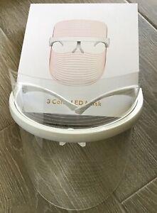 3 Color LED Light Face Neck Mask Rejuvenation Skin Facial Therapy