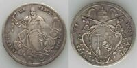 Beautiful 1815R Large Silver Coin Italian Papal State Scudo Pope Pius VII KM1275