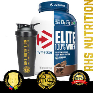 Dymatize Nutrition Elite 100% Whey Protein Powder 5lb BCAAs WPI WPC Gluten Free