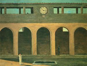 The Enigma of the Hour  by Giorgio de Chirico   Giclee Canvas Print Repro