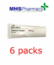 6 x Aqueous Cream 100g Tube for Dry Skin use as emollient soap brand will vary