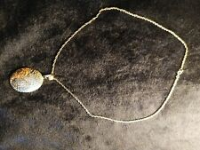 9ct Gold Chain and 9ct Gold Disc Pendant 5.84 Grams