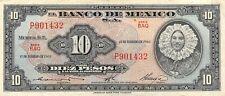 México  10  Pesos  17.2.1965  Series  BAQ Prefix  P  Circulated Banknote D37