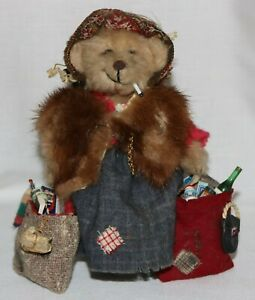 7 Inch 1995 Odette Conley / Bearsigh One Of A Kind Hand Made Bear with Stand EX