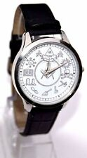 MASONIC WATCH MASONIC SYMBOLS SUPERB DETAIL BLACK STRAP
