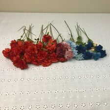 Lot of Vtg Hong Kong Carnations Floral Millinery Flower Stems Bouquet Spray