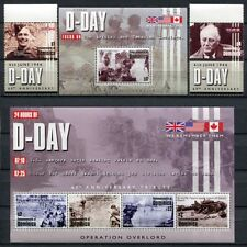 DOMINICA 2004 D-Day 2. Weltkrieg World War Normandie 3599-604 + Bl.501 ** MNH