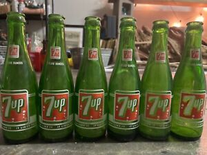 """Vintage 7UP Bottles RARE New Orleans Lot of (6) 7oz """"You Like It It Likes You"""""""