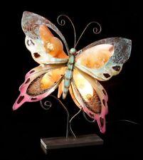 Metall Figur - Schmetterling Lampe - Fantasy Tischlampe Deko Geschenk