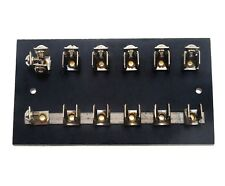 Marine Fuse Block Holder For Glass Fuses 5 Position Circuits With Ground Lug