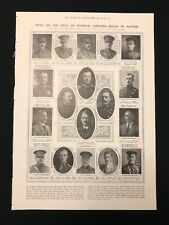 WW1 1915 Newspaper Page, Roll of Honour KIA Officers Killed In Action, 23/01/15