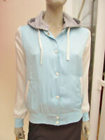 Alcott - BNWT - Womens Light Blue / Ivory Lightweight Casual Hooded Jacket - S/M