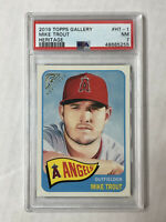 MIKE TROUT 2019 Topps Gallery Heritage SP INSERT #HT-1! PSA NM 7! HUGE SALE!