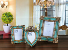 """New 5""""/7"""" Retro Ink Green Resin Wedding Pictures/Photos Frame Home Bedroom Decor"""