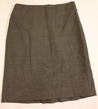 ANN TAYLOR Women's Size 6 Gray Checked Wool Blend Straight Skirt Knee Length