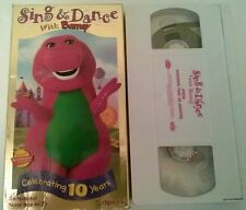 VHS Video Tape Barney's Sing and Dance  TESTED