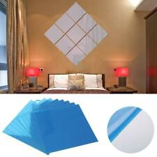 9/16PCS DIY Mirror Tile Wall Sticker Self Adhesive Stick On Removable Home Decor