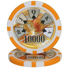 "25 ct Orange $10000 Ten Thousand Dollars 10k ""Ben Franklin"" Poker Chips 14 Grams"