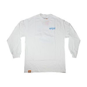 Enjoi Skateboards Longsleeve Shirt Spot Check White