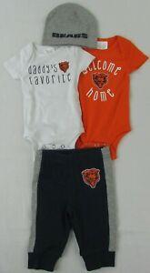 Chicago Bears NFL Baby Boy's 4 Piece Bodysuit Set
