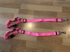 New listing 2Pack Headrest Dog Seat Belt Leash Adjustable Safety Restraint Strap - Pink