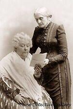Susan B. Anthony & Elizabeth Cady Stanton - circa 1890 - Historic Photo Print