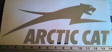 Arctic Cat decal in Premium Metallic silver (chrome) Vinyl 14 inch sticker