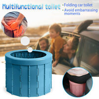 Portable Travel Folding Toilet Urinal Mobile Seat For Camping Hiking Long Trip D