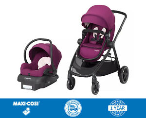 Maxi Cosi Zelia 5-in-1 Travel System Stroller w Mico 30 Infant car seat - Violet