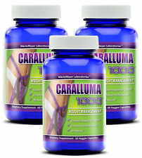 CARALLUMA Fimbriata 1000mg(10:1)RATIO Appetite Suppressant Weight Loss 3 Bottles