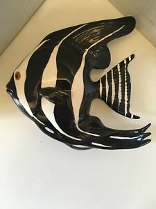 Ceramic Angel Fish mid century modern wall art in perfect condition Eames era