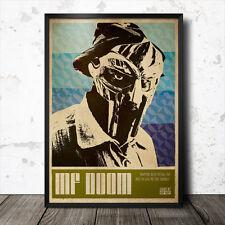 MF Doom Hip hop Art Poster Affiche Musique rap Madlib Flying Lotus MOS DEF commun j dilla