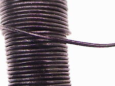 GOAT LEATHER CORD, ROUND, 1mm, BLACK, 5 FEET
