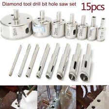 dremel diamond bits. 15x 6-50mm diamond hole saw drill bit set tile ceramic glass dremel rotary tool bits