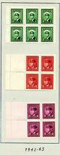 Weeda Canada 249a//C9a F-VF MH & used Booklet Panes, KGVI War issue CV $82.50