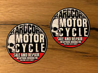 2x Vintage Custom Aufkleber Motorrad Biker Scrambler Bobber Cafe Racer V2 #474