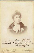 Format Cabinet : L.Blanc ; Portrait d'une actrice prénommée Henriette