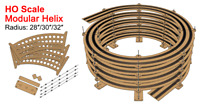 "NEW! 30"" Radius Helix For 28"" - 30"" - 32"" Tracks (Best for HO scale)"