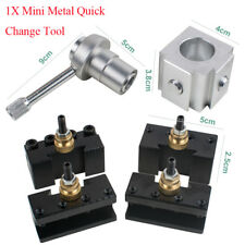 Mini Metal Quick Change Tool Post Holder Set Kit pour table Hobby tours Facile Utiliser