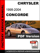 factory service repair manual ebay stores rh ebay com 1998 Chrysler Concorde LXI 2000 Chrysler Concorde Problems