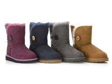UGG K Bailey Button KIDS Boots Lambskin Boots 22 - 38 Children's Girl's