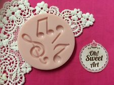 Musical Notes silicone mold fondant cake decorating food soap cupcake topper FDA